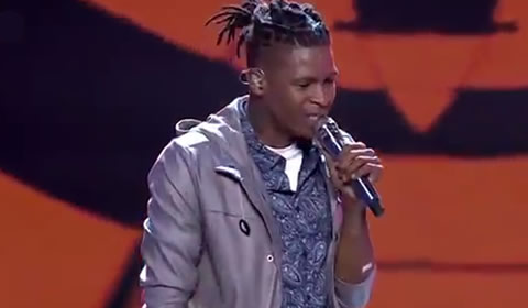 Thato Makape performing Treat You Better by Shawn Mendes